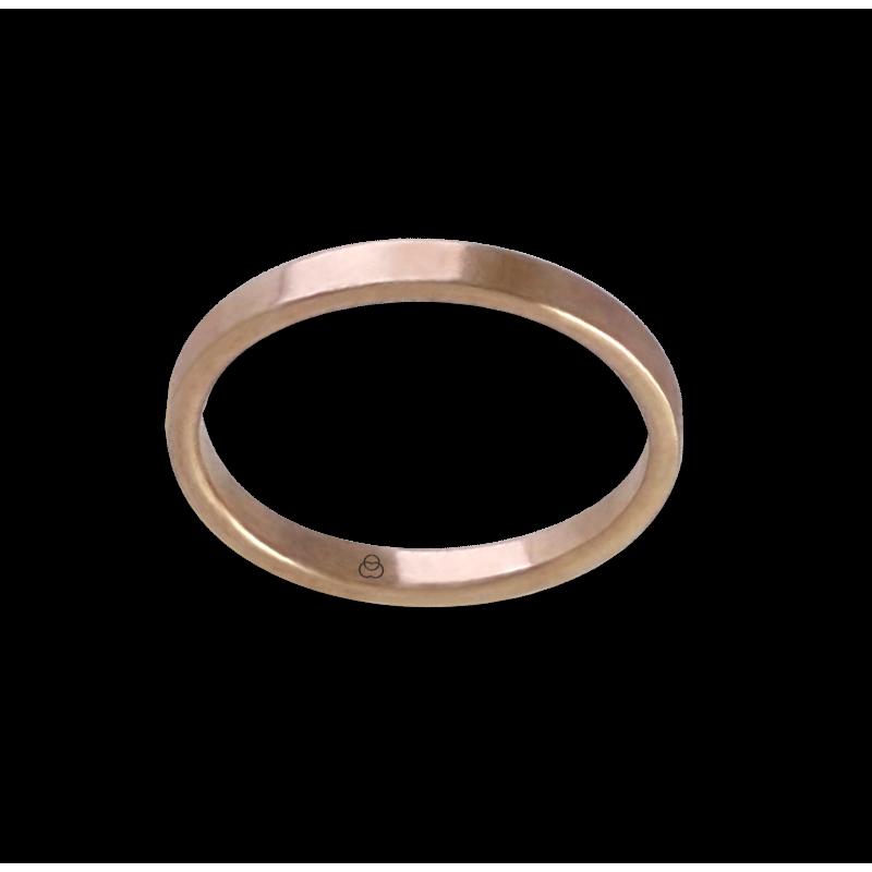 Anello in oro rosa 18 kt con diamante modello ar1268ldw