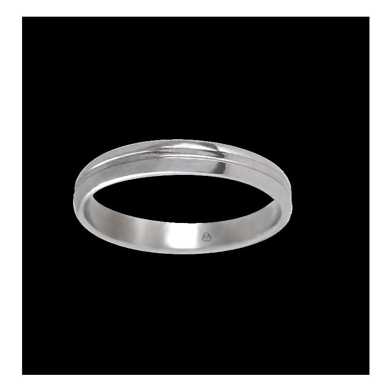 Unisex ring in white gold 18k extra polished model ab2319lew
