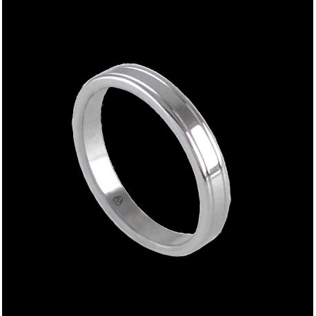 Anello unisex in oro bianco 18ct extra lucido modello ab0349lew
