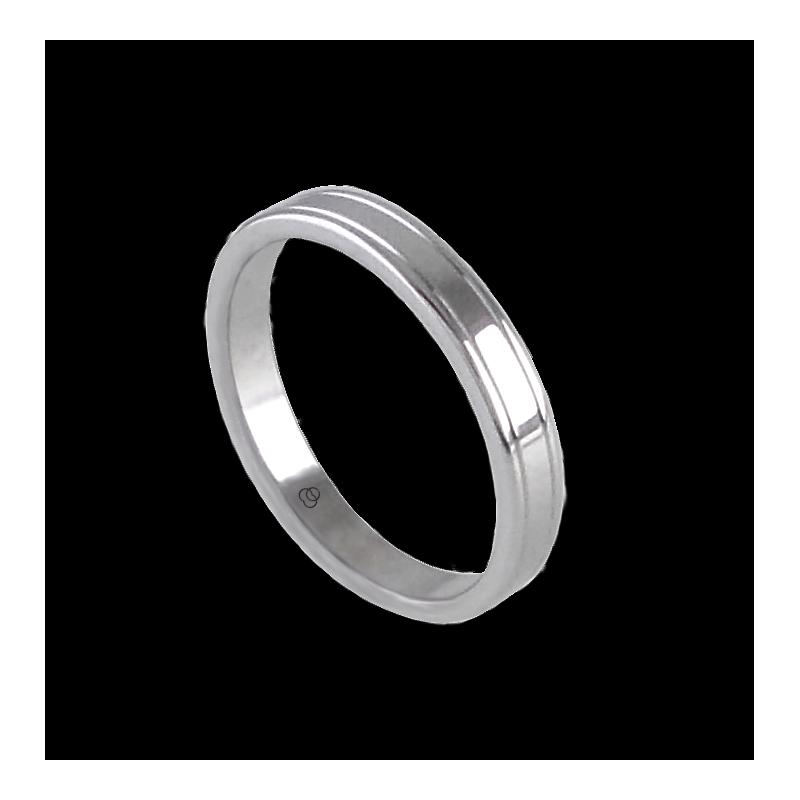Кольцо унисекс из белого золота 18 карат дополнительный глянцевый модель ab0349lew