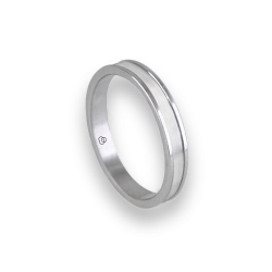 Unisex ring in white gold 18k polished and satin model bb0359lew
