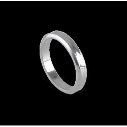 Unisex ring in white gold 18k holloved at the center model ab538100ew