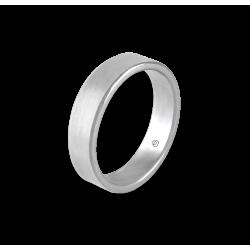 Кольцо унисекс из белого золота 18 карат матовое модель nb5070ew