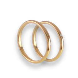 Wedding rings in yellow gold 18K entry price with diamond model ag0258ldw