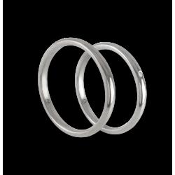 Пара обручальных колец из белого золота 18 карат без наценки модели ab0258ldw