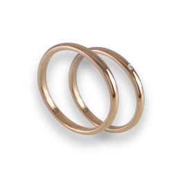 Wedding rings in rose gold 18k entry price with diamond model ar0258ldw