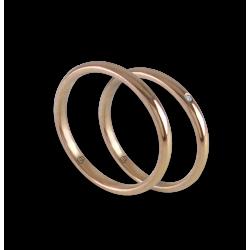 Fedi nuziali in oro rosa 18k primo prezzo con diamanti Modello ar0258ldw