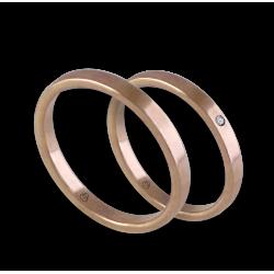 Fedi nuziali in oro rosa 18 kt primo prezzo con diamante modello ar1268lew