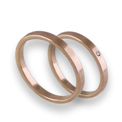 Wedding rings in rose gold 18k entry price with diamond model ar1268lew