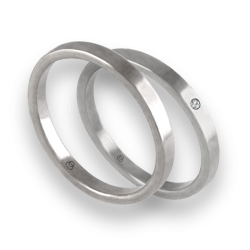 Wedding rings in white gold 18k entry price with diamond model ab1268lew