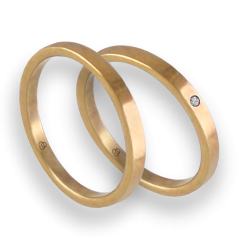 Wedding rings in yellow gold 18k entry price with diamond model ag1268lew