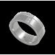 Anello unisex in oro bianco 18 kt lucido e satinato con 3 diamanti modelle db073142dw