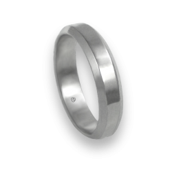 Unisex ring in white gold 18 ct polished finish model ab059524ew