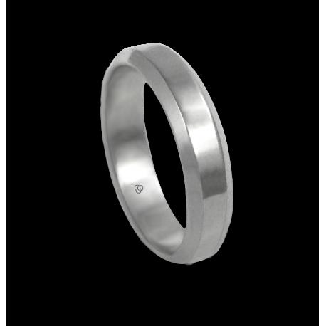 Anello unisex in oro bianco 18 ct extra lucido modello ab059524ew