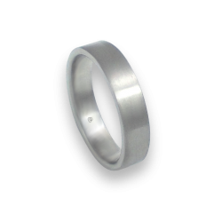 Кольцо унисекс из белого золота 18 карат отделка щетка модель b05406ew