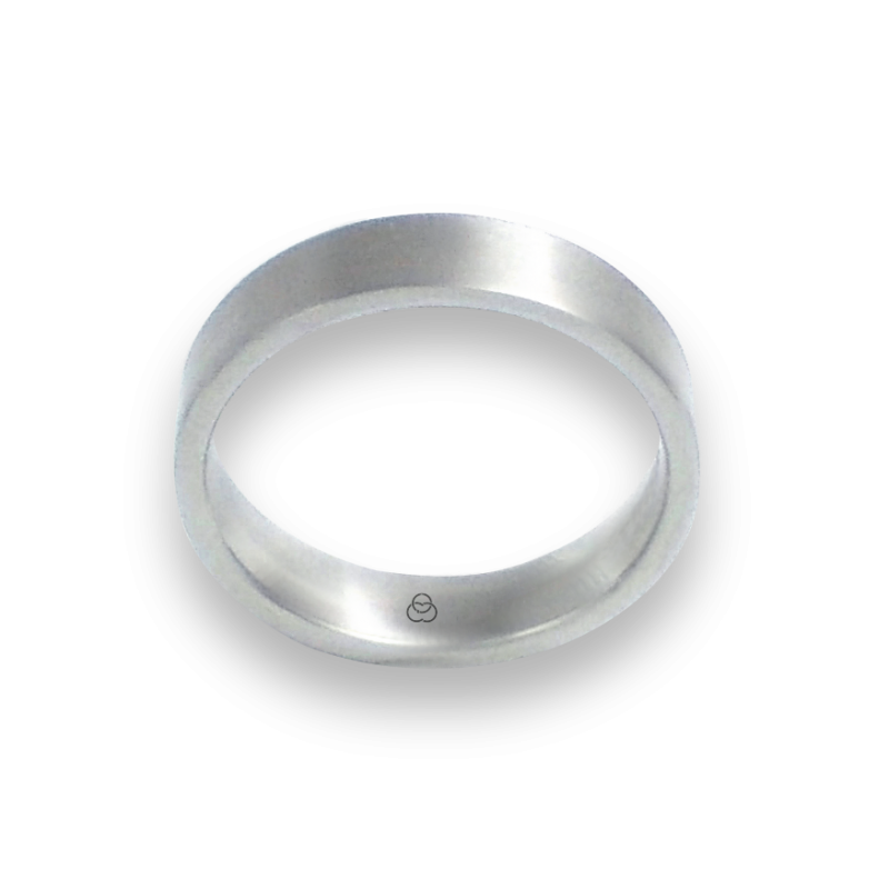 Unisex ring in white gold 18k brushed finish model b05406ew