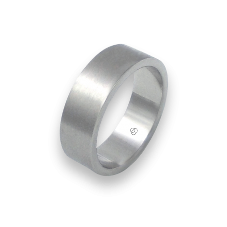 Unisex ring in white gold 18k satin finish model bb27779ew