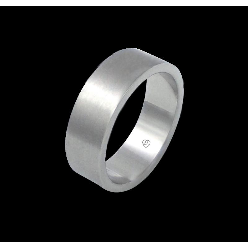 Unisex ring in white gold 18k satin finish model bb27779ew