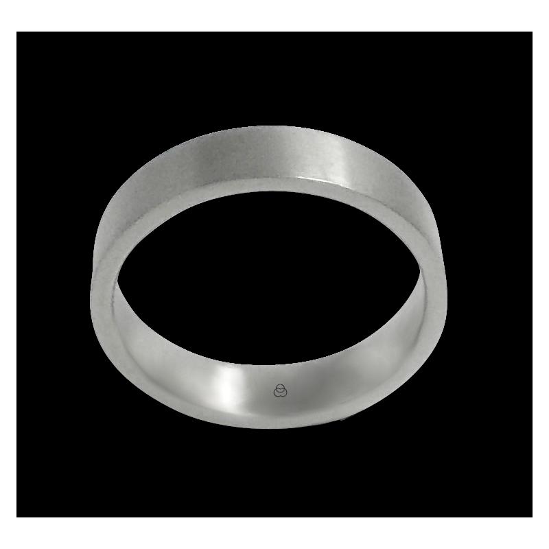 Anello unisex in oro bianco 18 kt satinato modello b05106ew