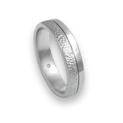 Кольцо из белого золота 18 карат, полированный и кованый модель zb5532344ew