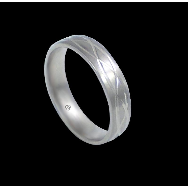 Ring in white gold 18k triple wave pattern model bb059922ew