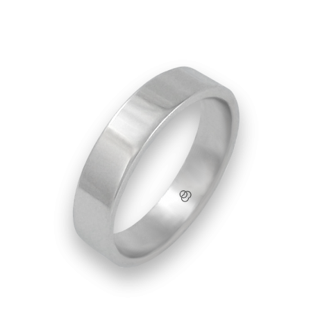 Ring in white gold 18k polished finish model 5-732-61ew