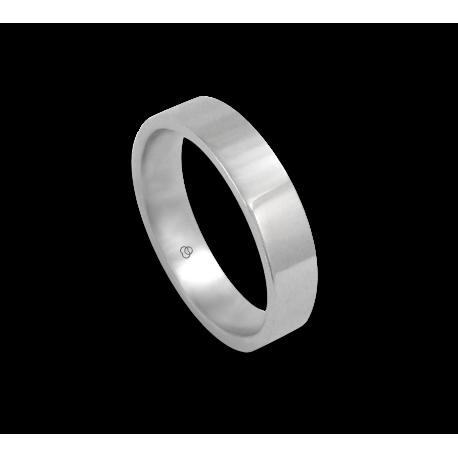 Кольцо из белого золота 18 карат, плоская полированная поверхность модель ab05406ew