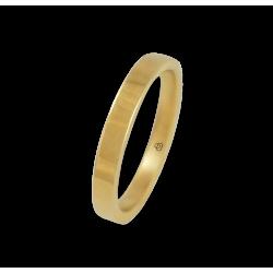 Кольцо из желтого золота 18 карат,плоская полированная поверхность модель g-5.3-732-91ew