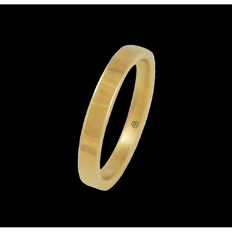 Anello in oro giallo 18 kt lucido superficie piatta modello g-5.3-732-91ew