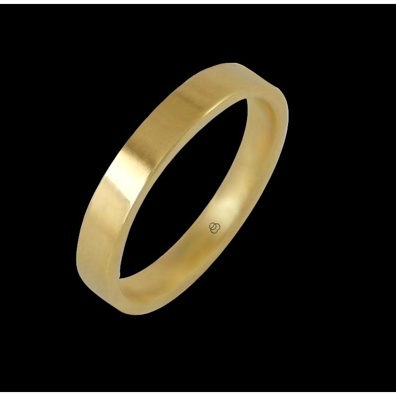 Кольцо из желтого золота 18 карат, плоская полированная поверхность модель g-4-732-02ew