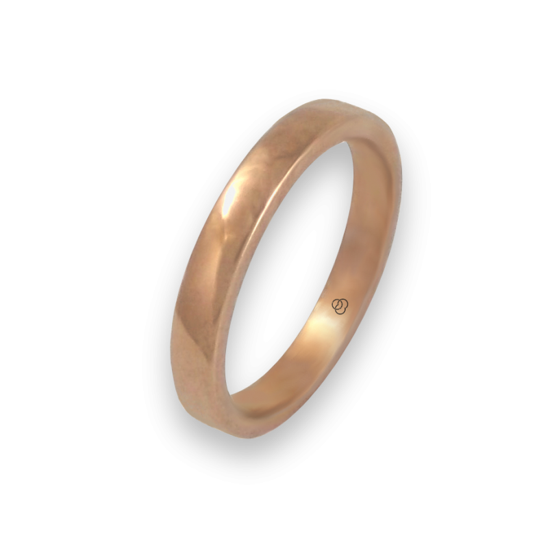 Кольцо из розового золота 18 карат, полированная поверхность модель q5.3-632-21ew