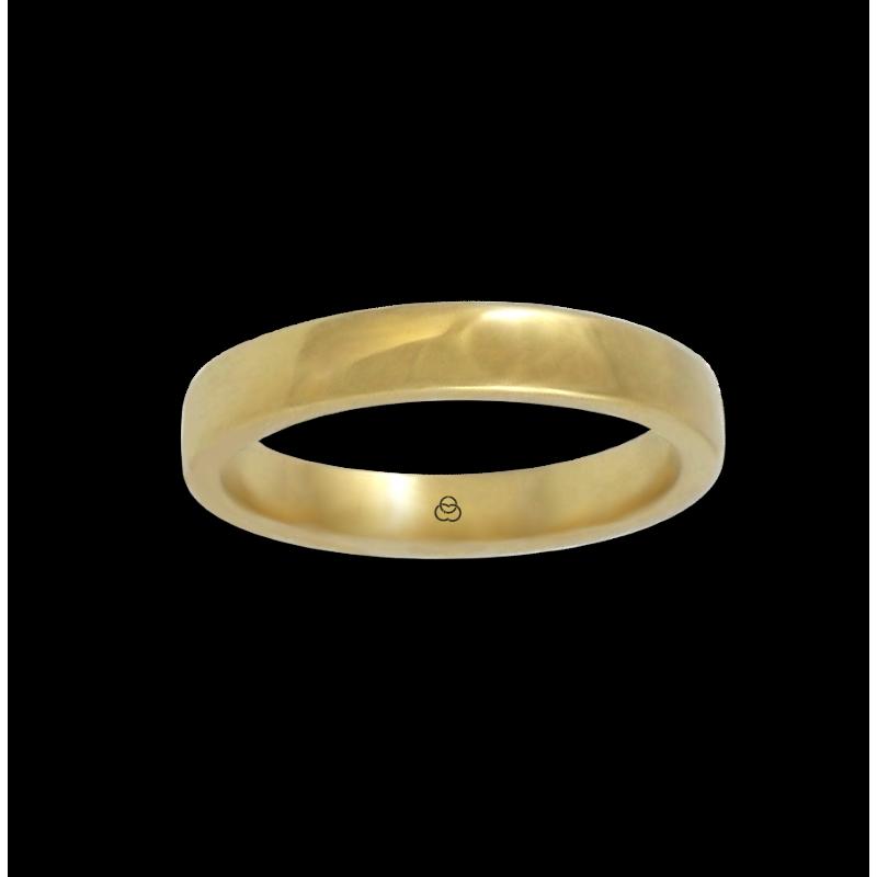 Кольцо из желтого золота 18 карат, полированная поверхность модель g4-632-41ew