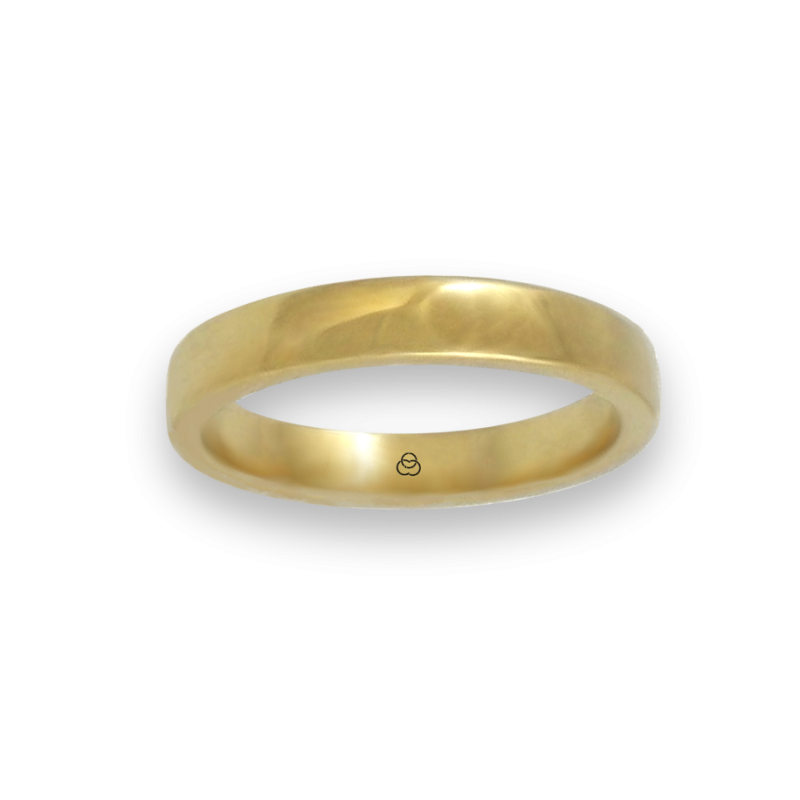 Ring in yellow gold 18k polished finish model g4-632-41ew