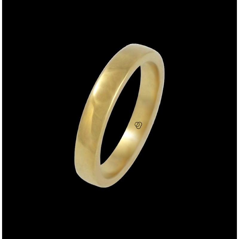 Anello in oro giallo 18 kt lucido superficie bombata modello g4-632-41ew