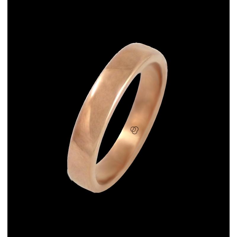 Anello in oro rosa 18 kt lucido superficie bombata modello q5.4-632-51ew