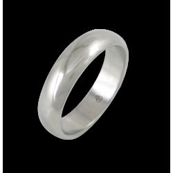 Кольцо из белого золота 18 карат, полированная поверхность модель ab55-10ew