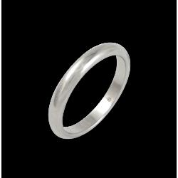 Кольцо из белого золота 18 карат, полированная поверхность модель ab03-30ew