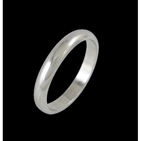 Кольцо из белого золота 18 карат, полированная поверхность модель ab73-20ew
