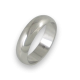 Ring in white gold 18k rounded surface polished finish model ab06-10ew