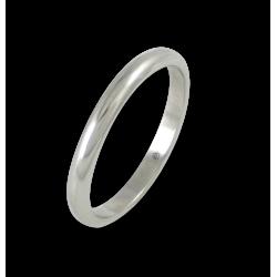 Кольцо из белого золота 18 карат, полированная поверхность модель ab82-20ew