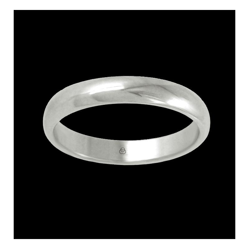 Ring in white gold 18k rounded surface polished finish model ab83-10ew