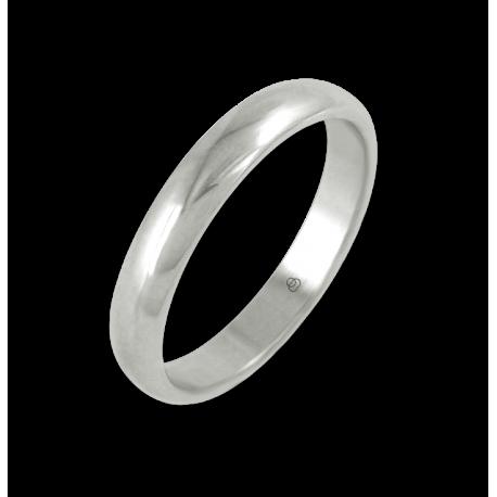 Кольцо из белого золота 18 карат, полированная поверхность модель ab83-10ew