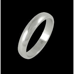 Кольцо из белого золота 18 карат, полированная поверхность модель ab24-20ew