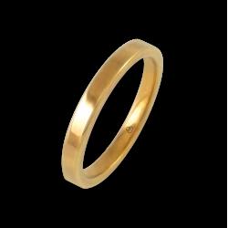 Кольцо из желтого золота 18 карат,плоская полированная поверхность модель ag82811ew