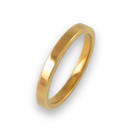 Ring in yellow gold 18k flat surface polished finish model ag82811ew