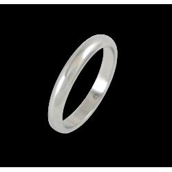Кольцо из белого золота 18 карат, полированная поверхность модель ab23-20ew
