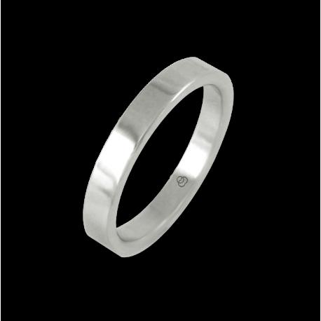 Кольцо из белого золота 18 карат, плоская полированная поверхность модель ab23-50ew