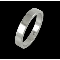 Кольцо из белого золота 18 карат, плоская полированная поверхность модель ab04-50ew