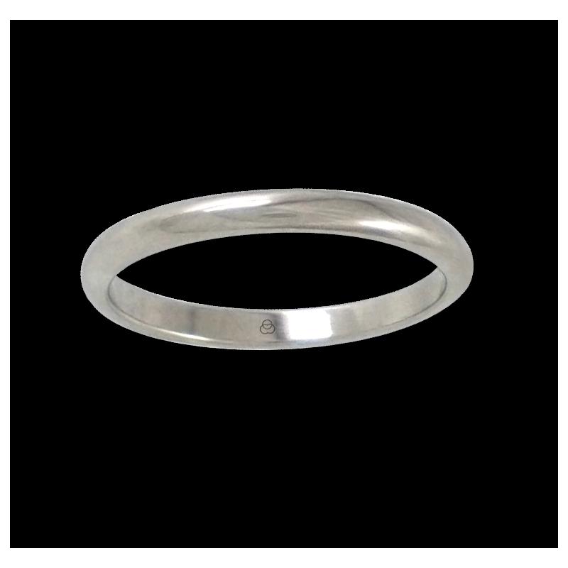 Кольцо из белого золота 18 карат, закругленная полированная поверхность модель ab62-30ew-бис