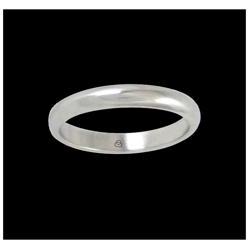 Кольцо из белого золота 18 карат, закругленная полированная поверхность модель ab23-20ew-бис